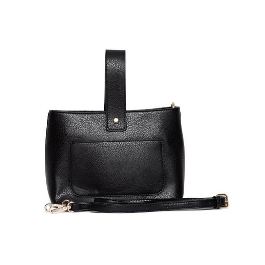 Bolsa Nice Bag Mini Alça Retrátil Mão Feminina - Preto