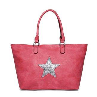 Bolsa Nice Bag Tote Alça Dupla Fixa Estrela Feminina