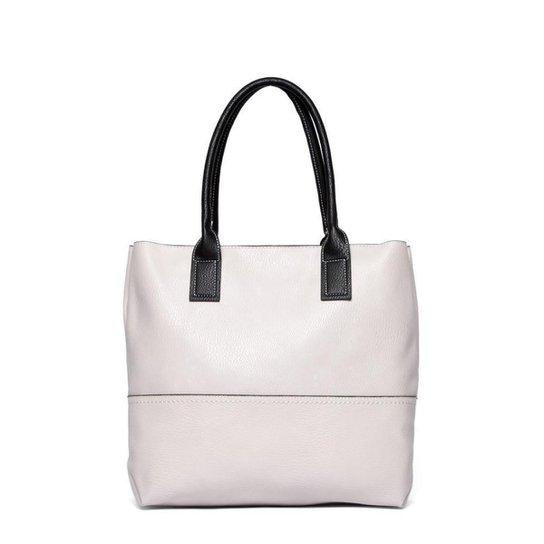 Bolsa Nice Bag Tote Alça Dupla Fixa Feminina - Off White