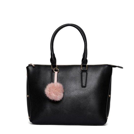 Bolsa Nice Bag Tote Alça Dupla Fixa Feminina - Preto