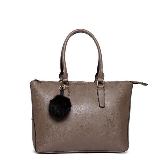 Bolsa Nice Bag Tote Alça Dupla Fixa Feminina - Cinza