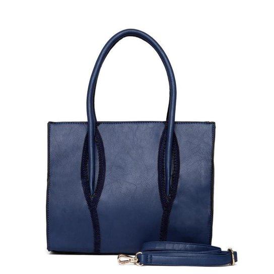 Bolsa Nice Bag Tote Alça Regulável Feminina - Marinho