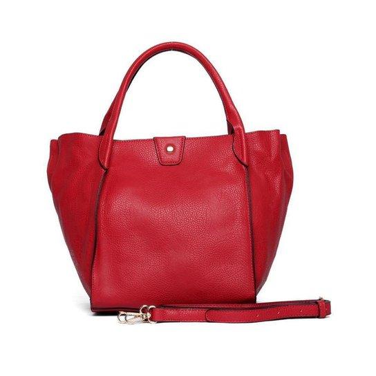Bolsa Nice Bag Tote Ombro Alça Removível Feminina - Vermelho