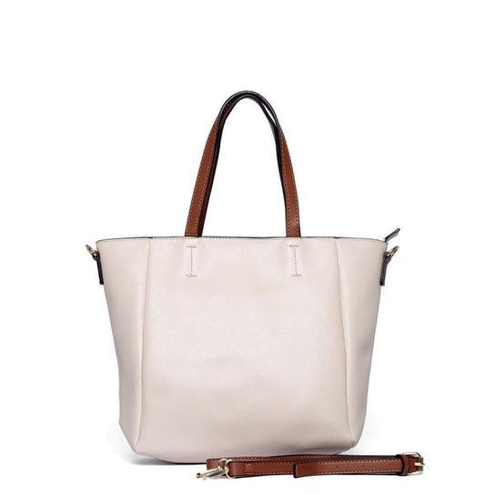 Bolsa Nice Bag Tote Ombro Transversal Tassel Feminina - Off White