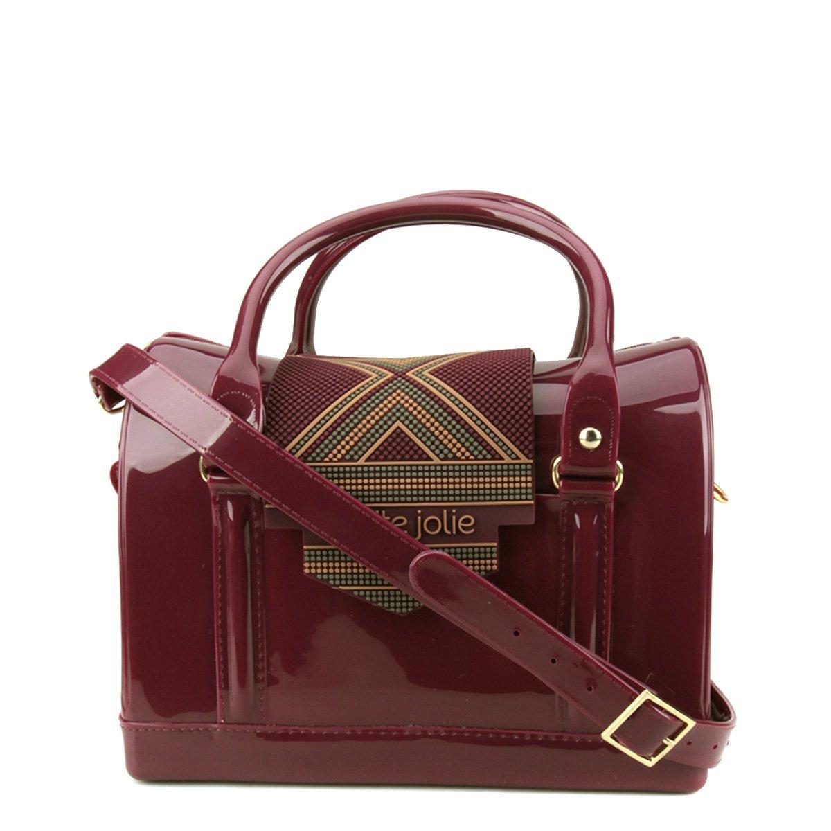 looks básicos e chiques - Bolsa Petite Jolie Mini Bag Bloom Feminina - Vinho