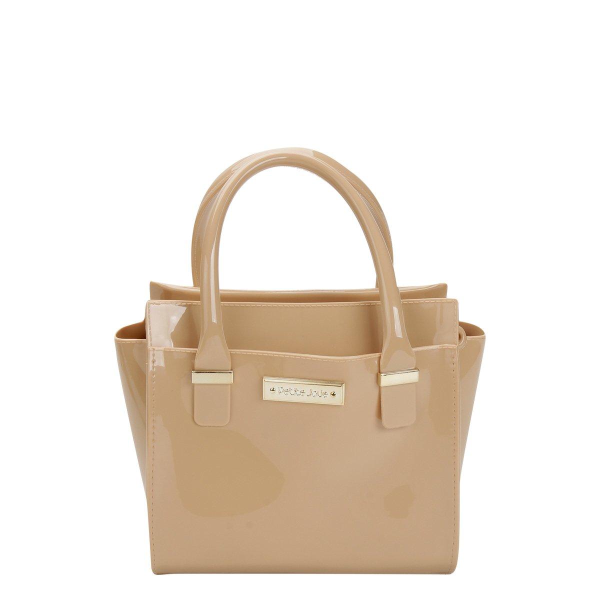 Bolsa De Mão Petite Jolie : Bolsa petite jolie mini bag logo feminina nude