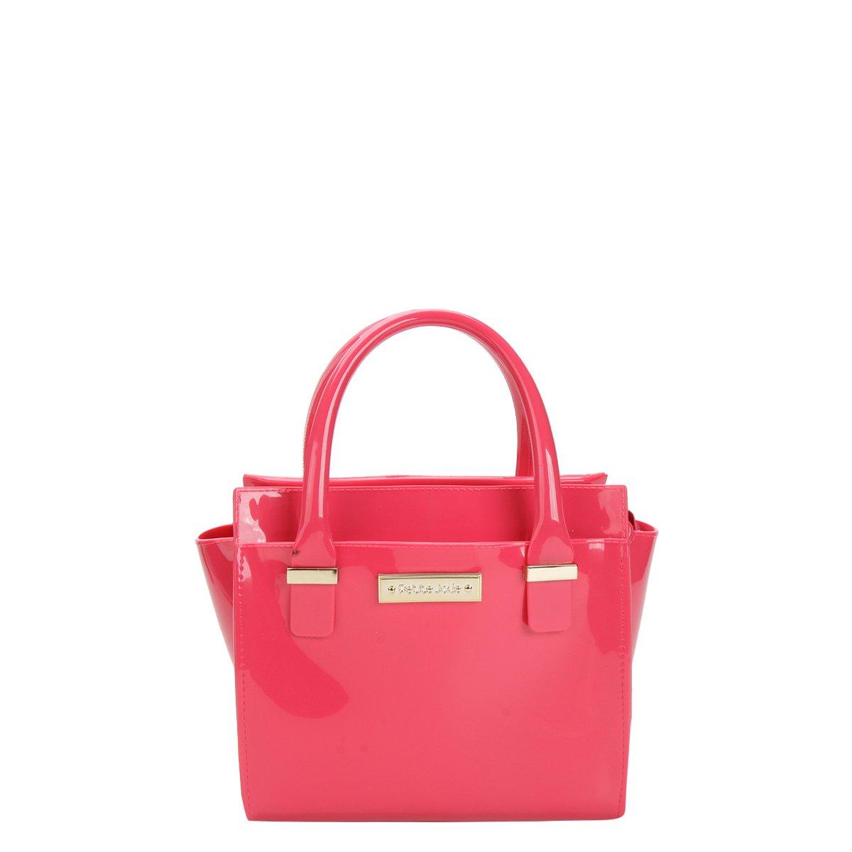 Bolsa De Mão Petite Jolie : Bolsa petite jolie mini bag logo feminina pink