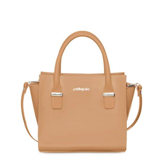 Bolsa Petite Jolie Tote Shopper Love Feminina - Caramelo