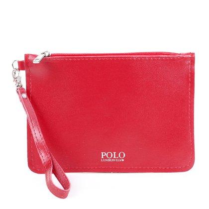 Bolsa Polo London Club Clutch Alça Removível Feminina