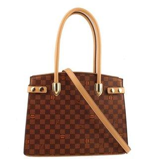 Bolsa Queens Paris Khaki Couro PU QPB45U21 Feminina