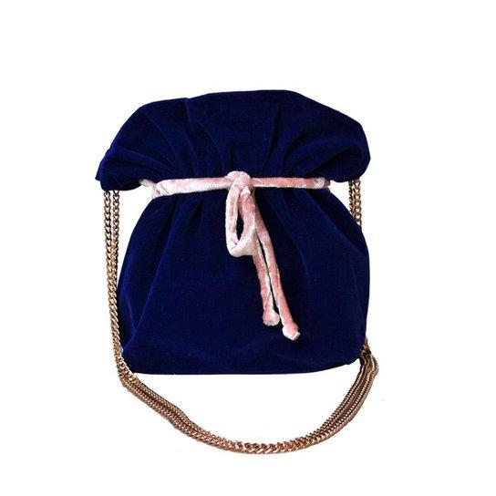 Bolsa Saco Ania Store Nova Iorque - Azul