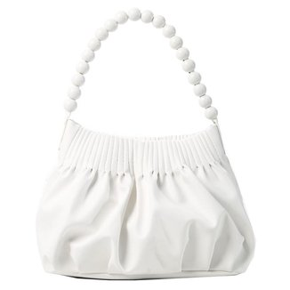 Bolsa saco franzida com alça de bolinhas 10117998