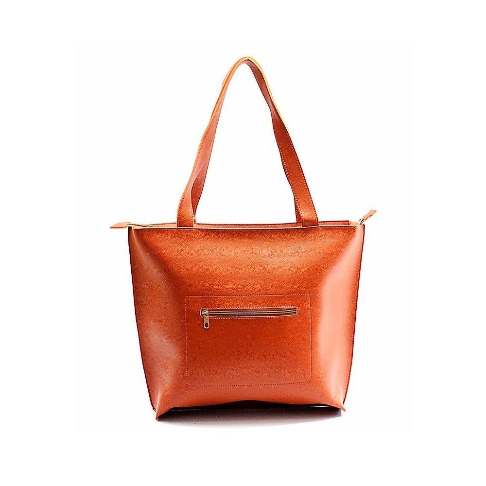 Bolsa Sacola Feminina Ombro Number Lisa - Marrom Claro - Compre ... dba3f6fa9b5b8