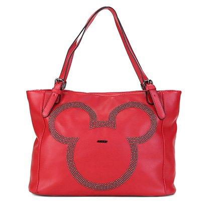 Bolsa Sacola Gash Shopper Aplique Rebites Mickey Feminina-Feminino
