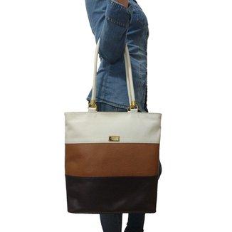 Bolsa Sacola TopGrife Shopper Couro Multicolorido Feminina