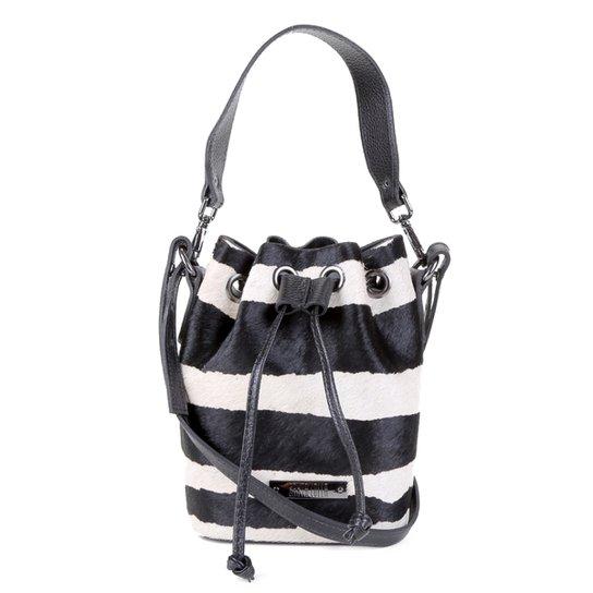 Bolsa Santa Lolla Bucket Pequena Feminina - Zebra