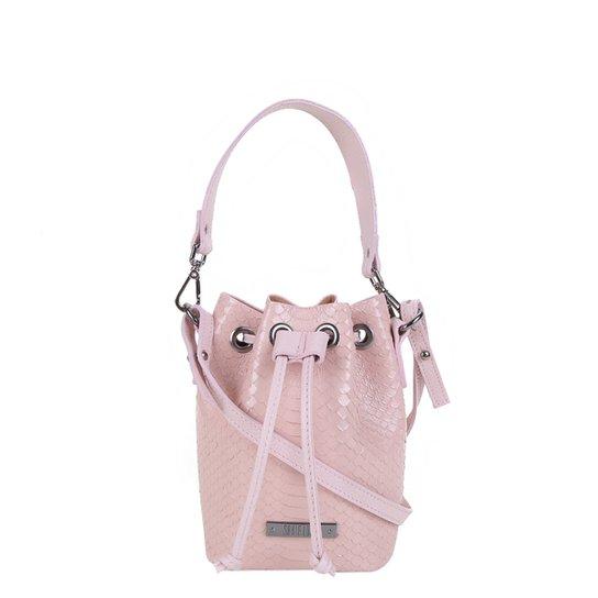 Bolsa Santa Lolla Bucket Pequena Feminina - Rosa Claro