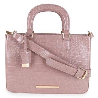 Bolsa Santa Lolla Handbag Croco Alto Brilho Feminina