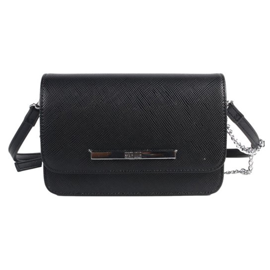 Bolsa Santa Lolla Mini Bag Alça Corrente Feminina - Preto