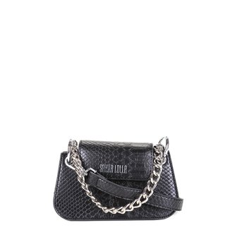 Bolsa Santa Lolla Mini Bag Croco Alça Corrente Feminina