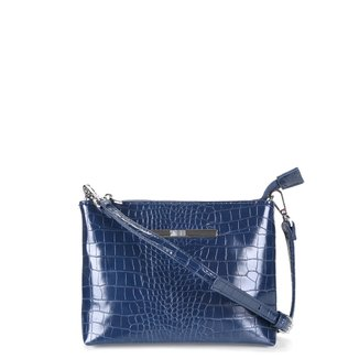 Bolsa Santa Lolla Mini Bag Croco Alto Brilho Feminina
