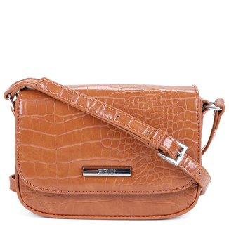 Bolsa Santa Lolla Mini Bag Croco Verniz Feminina