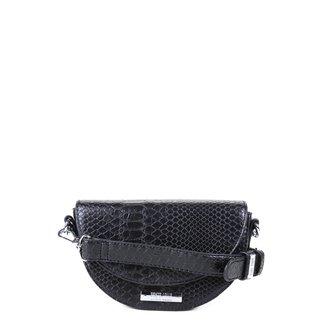 Bolsa Santa Lolla Mini Bag Meia Lua Cobra Alça Corrente Feminina