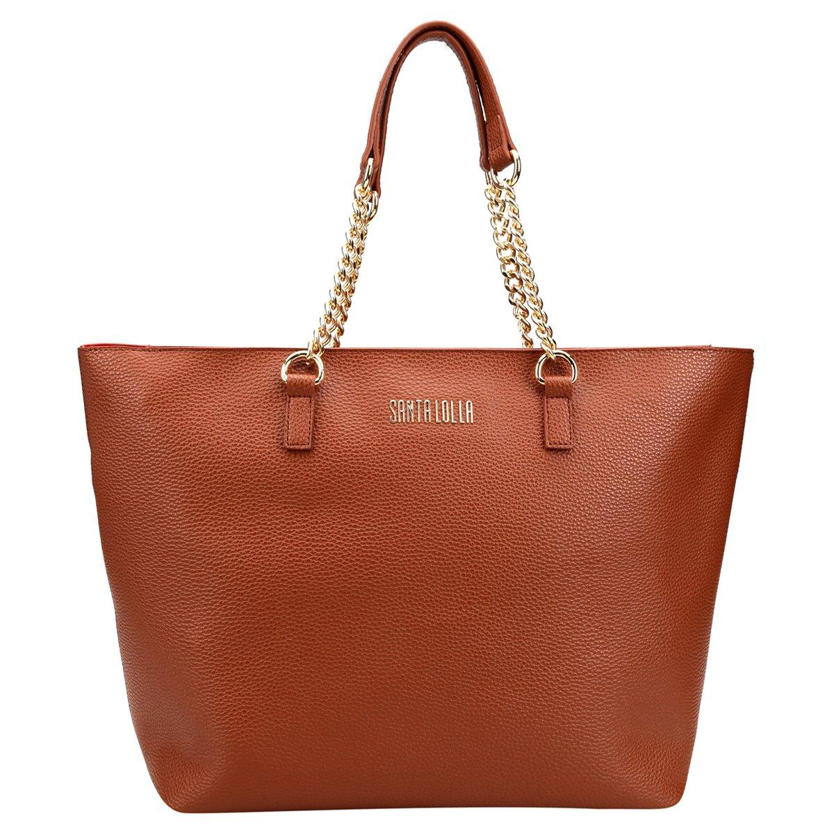 Bolsa Santa Lolla Shopper Alça Corrente Feminina - Compre Agora ... 13875cbb513cf