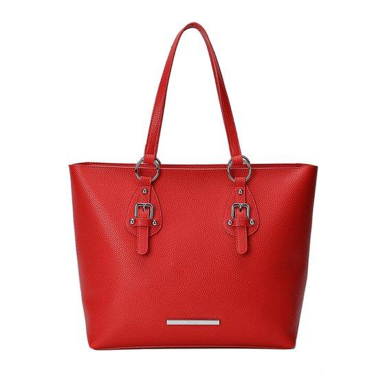 Bolsa Santa Lolla Shopper Grande Fivelas Feminina - Vermelho