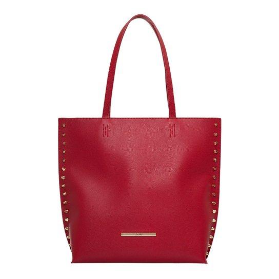 Bolsa Santa Lolla Shopper Tachas Laterais - Vermelho