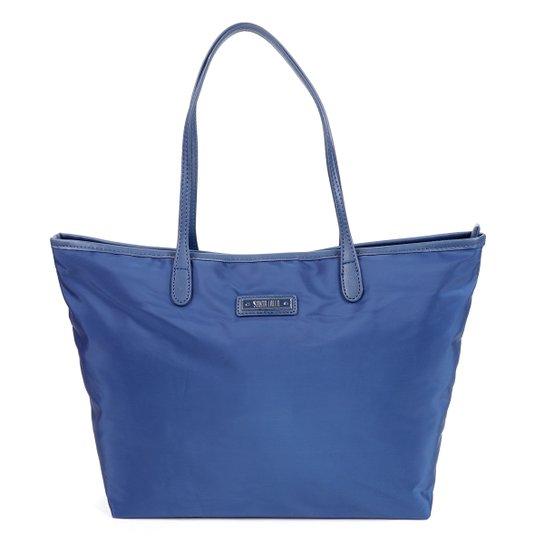 Bolsa Santa Lolla Tote Shopper Nylon Feminina - Marinho