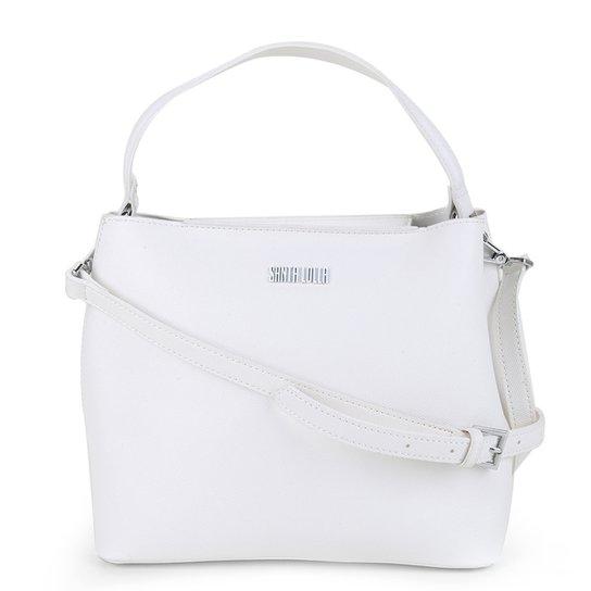 Bolsa Santa Lolla Tote Shopper Risco Feminina - Branco
