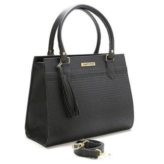 Bolsa Santorini Handbag Tricê Preto