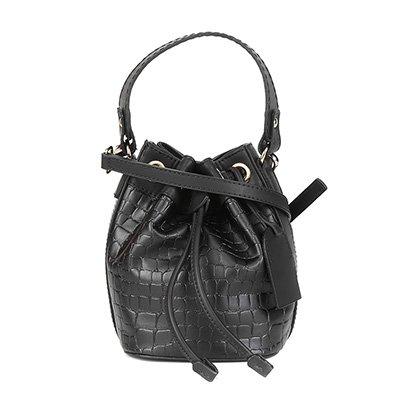 Bolsa Shoestock Bucket Mini Croco Feminina