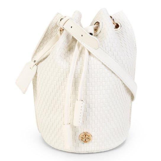 Bolsa Shoestock Bucket Tresse Feminina - Off White