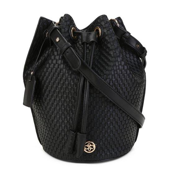Bolsa Shoestock Bucket Tresse Feminina - Preto