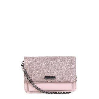 Bolsa Shoestock Mini Bag Tiracolo Metalizada Feminina