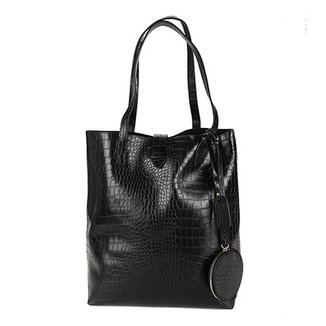 Bolsa Shoestock Shopper Notebook Croco Feminina