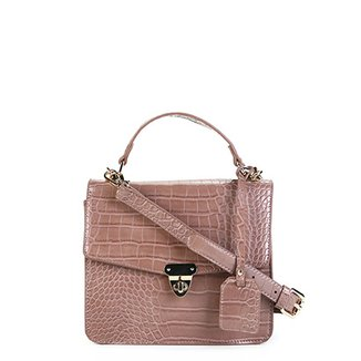 Bolsa Shoestock Transversal London Croco Feminina