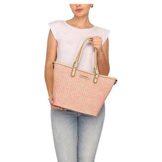 Bolsa Shopping Bag Palha Wj Feminina