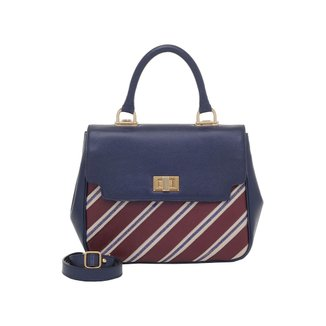 Bolsa Smart Bag Couro Listras