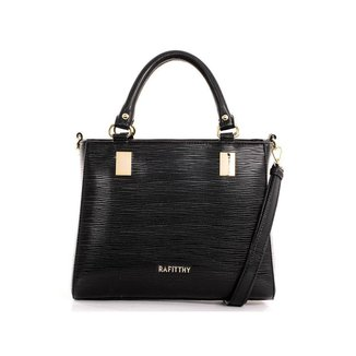 Bolsa Tote Shopper Feminina Rafitthy Textura Zíper Casual