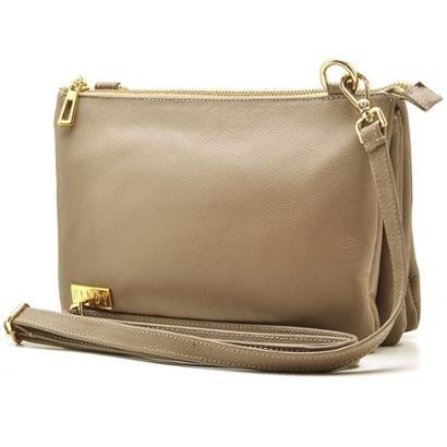 Bolsa Transversal de couro Hendy Bag com repartições Clara Feminina