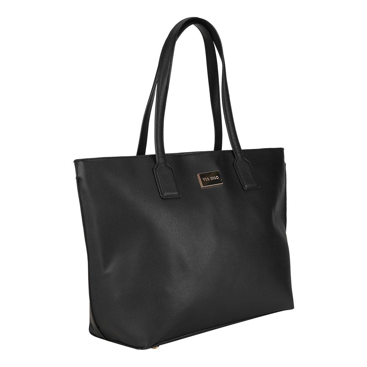 d9f8cc359 Bolsa Via Uno Shopper Básica com Logo Feminina - Compre Agora | Zattini