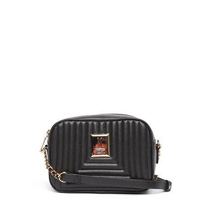 Bolsa Vizzano Mini Bag Transversal Matelasse Feminina Feminino-Preto