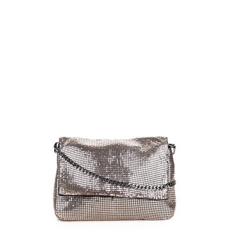 Bolsa WJ Mini Bag Metalizada Alça Corrente Crossbody Feminina
