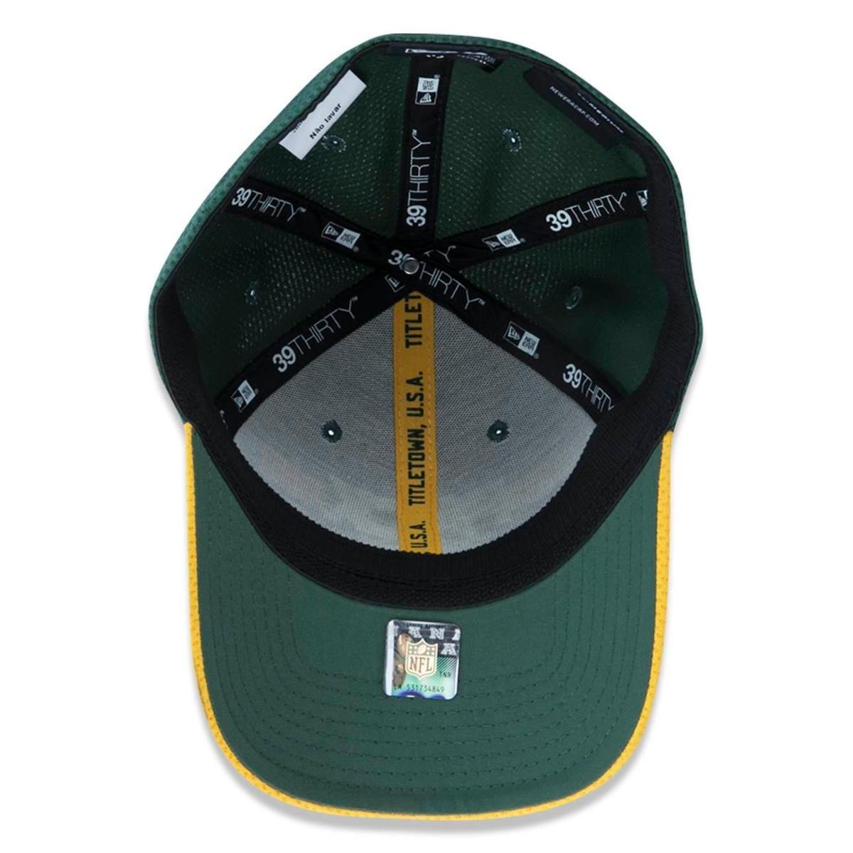 Boné 3930 Green Bay Packers NFL Aba Curva New Era - Verde - Compre ... 97bd8c5a1ec