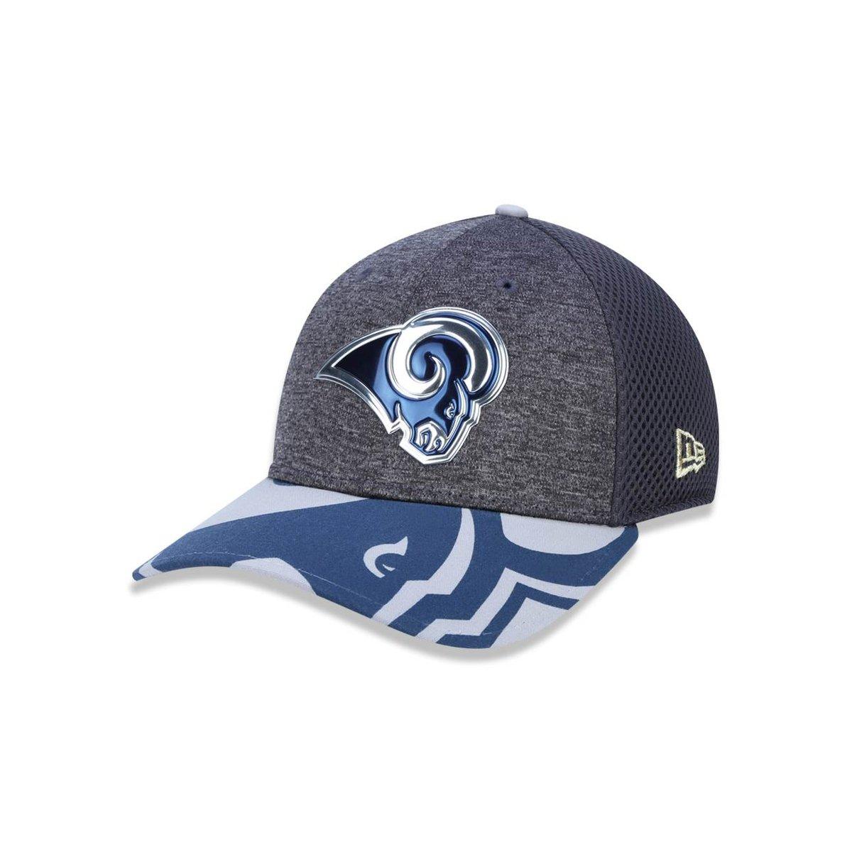 Boné 3930 Los Angeles Rams NFL Aba Curva New Era - Cinza - Compre Agora  73ca06413a6