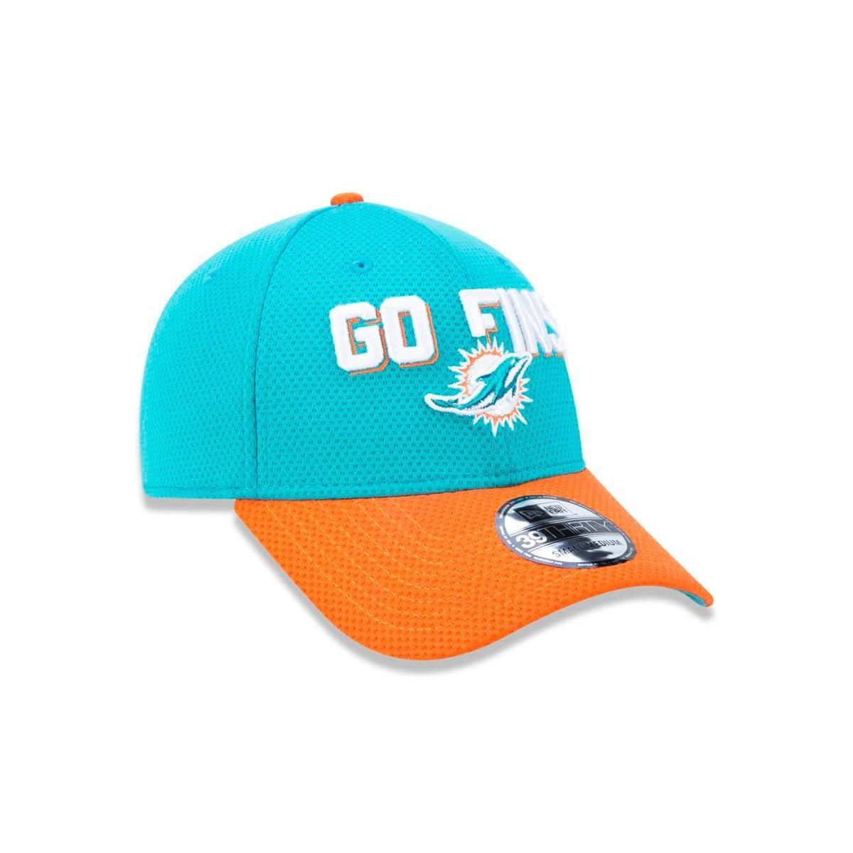 Boné 3930 Miami Dolphins NFL Aba Curva New Era - Verde - Compre ... cc100c34397