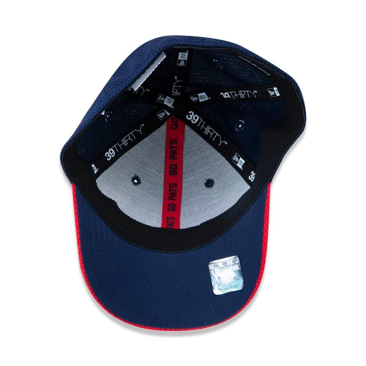 Boné 3930 New England Patriots NFL Aba Curva New Era - Azul - Compre ... 5d5b68fa426